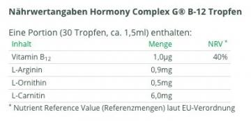 Hormony Complex G® B-12 Tropfen, 50ml Flasche für hCG Diät (Stoffwechselkur) - 2